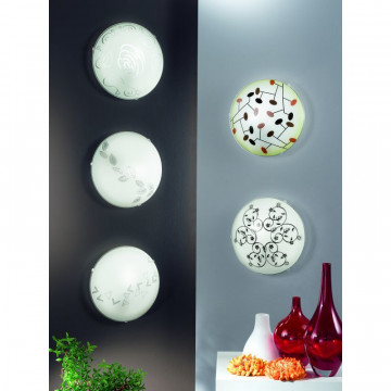 Потолочный светильник Eglo Mars 80263, 1xE27x60W, белый, металл, стекло - миниатюра 3