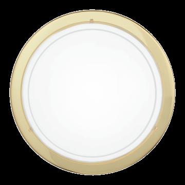Потолочный светильник Eglo Planet 1 83157, 1xE27x60W, золото, белый, металл, стекло