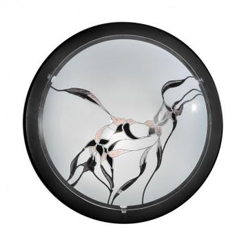 Потолочный светильник Eglo Planet 3 83193, 1xE27x60W, черный, матовый, металл, стекло