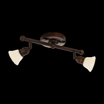 Потолочный светильник с регулировкой направления света Eglo Alamo 89058, 2xG9x33W, коричневый, бежевый, металл, стекло