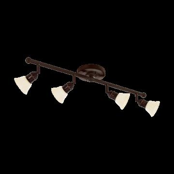 Потолочный светильник с регулировкой направления света Eglo Alamo 89059, 4xG9x33W, коричневый, бежевый, металл, стекло