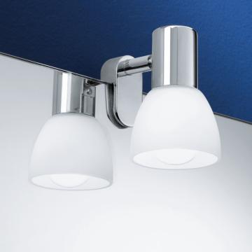 Мебельный светильник Eglo Sticker 85832, 1xE14x40W, хром, белый, металл, стекло