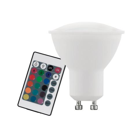 Светодиодная лампа Eglo 10686 MR16 GU10 4W, 3000K/RGB (теплый) CRI>80, гарантия 5 лет
