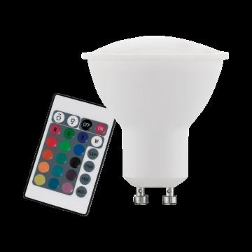 Светодиодная лампа Eglo 10686 MR16 GU10 4W, 3000K/RGB (теплый) CRI>80, диммируемая, гарантия 5 лет