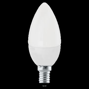 Светодиодная лампа Eglo 11421 свеча E14 4W, 3000K (теплый), гарантия 5 лет