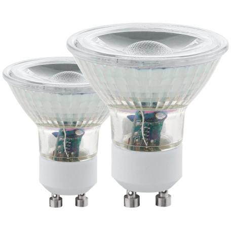 Светодиодная лампа Eglo 11475 MR16 GU10 3,3W, 3000K (теплый) CRI>80, гарантия 5 лет
