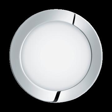 Встраиваемая светодиодная панель Eglo Fueva 1 96055, IP44, LED 10,9W 3000K 1200lm CRI>80, хром, металл с пластиком, пластик