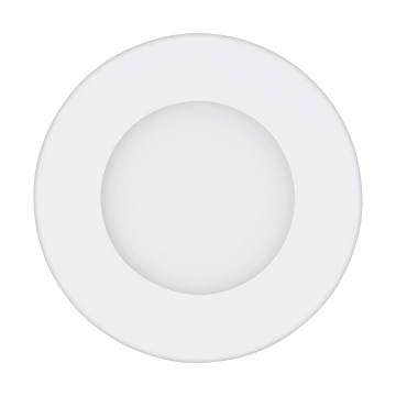 Встраиваемая светодиодная панель Eglo Fueva 1 96164, IP44, LED 2,7W 4000K 360lm CRI>80, белый, металл с пластиком, пластик