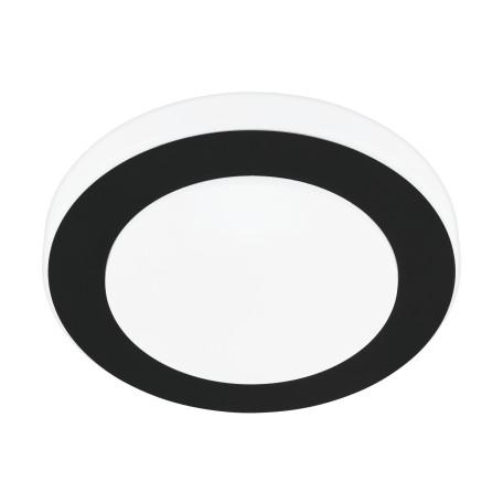 Потолочный светодиодный светильник Eglo LED Carpi 33682, LED 11W 3000K, белый, черный, металл, пластик