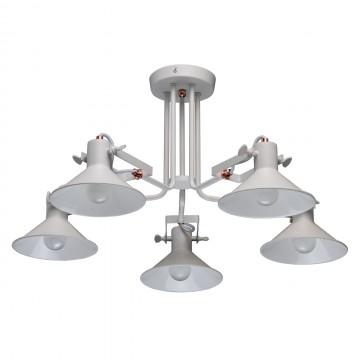 Потолочная люстра с регулировкой направления света MW-Light Таун 691010705, 5xE14x5W, белый, металл