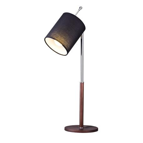 Настольная лампа Arti Lampadari Julia E 4.1.1 BR, 1xE27x60W, коричневый с хромом, черный, металл, текстиль