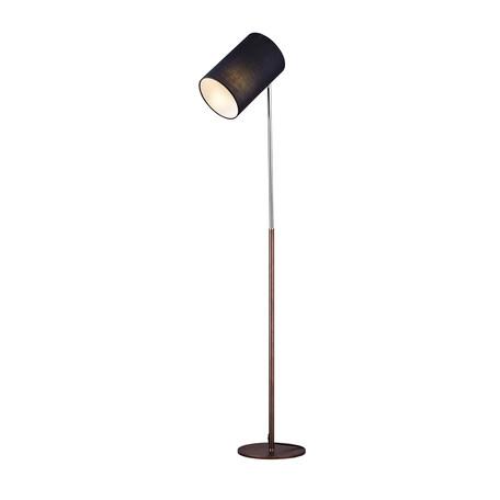 Торшер Arti Lampadari Julia E 3.1.1 BR, 1xE27x60W, коричневый, хром, черный, металл, текстиль