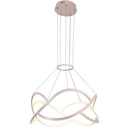 Подвесная светодиодная люстра Favourite Loomy 2510-6P, LED 45W 4000K 2025lm, розовый, металл, металл с пластиком