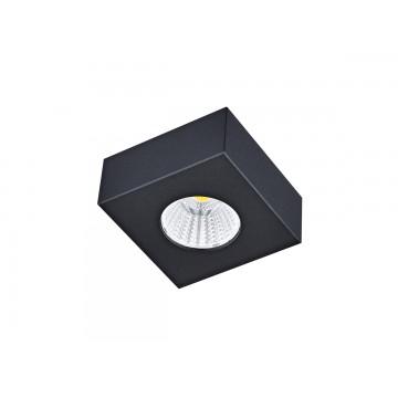 Потолочный светодиодный светильник Donolux Mono DL18812/7W Black SQ, IP44, LED 7W, 3000K (теплый)