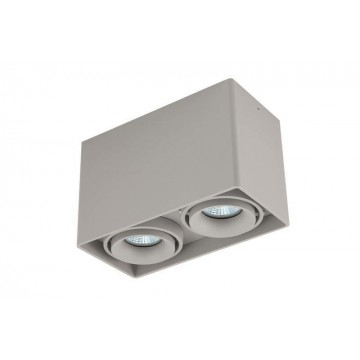 Потолочный светильник Donolux Lumme DL18611/02WW-SQ Silver Grey, 2xGU10x50W