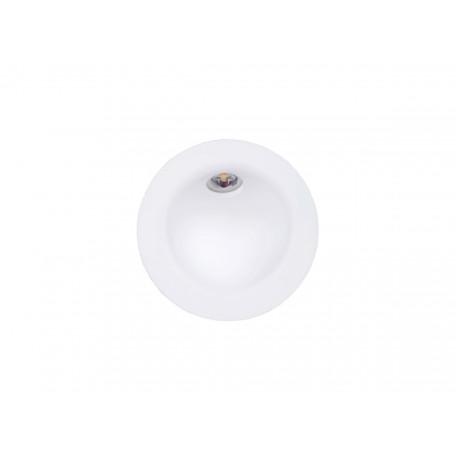 Встраиваемый настенный светодиодный светильник Donolux Portal DL18427/11WW-R White, IP54, LED 2W 3000K 144lm