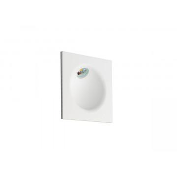 Встраиваемый настенный светодиодный светильник Donolux Portal DL18427/11WW-SQ White, IP54, LED 2W 3000K 144lm