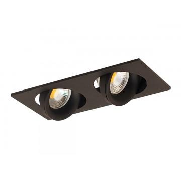 Встраиваемый светильник Donolux Saturn DL18412/02TSQ Black, 2xGU10x50W