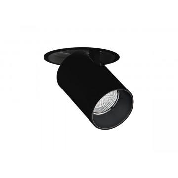 Встраиваемый светодиодный светильник с регулировкой направления света Donolux DL18621/01R Black Dim, LED 9,2W 3000K 740lm