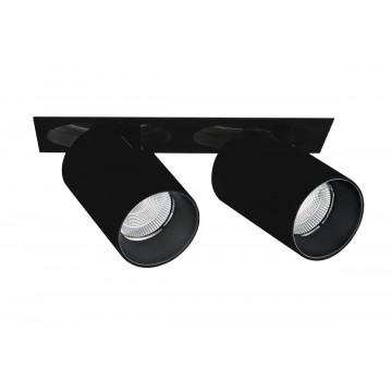 Встраиваемый светодиодный светильник с регулировкой направления света Donolux DL18621/02SQ Black Dim, LED 18,4W, 3000K (теплый)