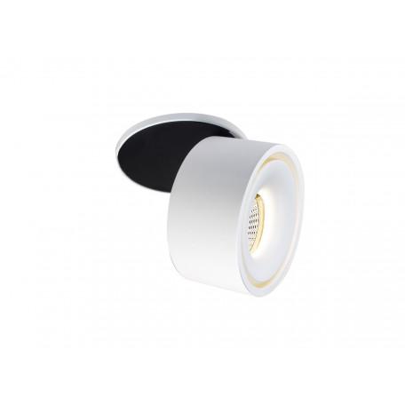 Встраиваемый светодиодный светильник с регулировкой направления света Donolux Marta DL18618/01WW-R White, LED 9,3W 3000K 870lm, белый, черно-белый