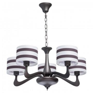 Подвесная люстра MW-Light Николь 364014205 SALE, 5xE27x40W, коричневый, металл, текстиль
