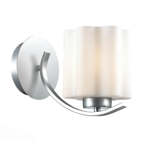 Бра ST Luce Onde SL116.501.01, 1xE27x60W, серебро, белый, металл, стекло