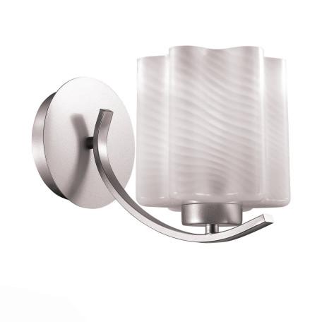 Бра ST Luce Onde SL117.501.01, 1xE27x60W, серебро, белый, металл, стекло
