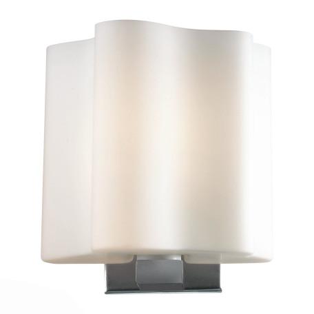 Настенный светильник ST Luce Onde SL116.051.01, 1xE27x60W, серебро, белый, металл, стекло