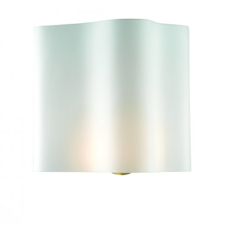 Настенный светильник ST Luce Onde SL116.511.01, 1xE14x60W, серебро, белый, металл, стекло