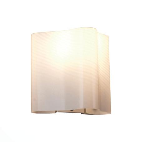Настенный светильник ST Luce Onde SL117.511.01, 1xE14x60W, серебро, белый, металл, стекло