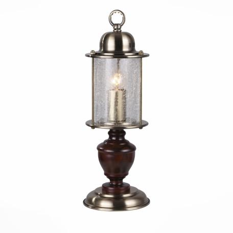 Настольная лампа ST Luce Volantino SL150.304.01, 1xE27x60W, бронза, коричневый, прозрачный, дерево, стекло