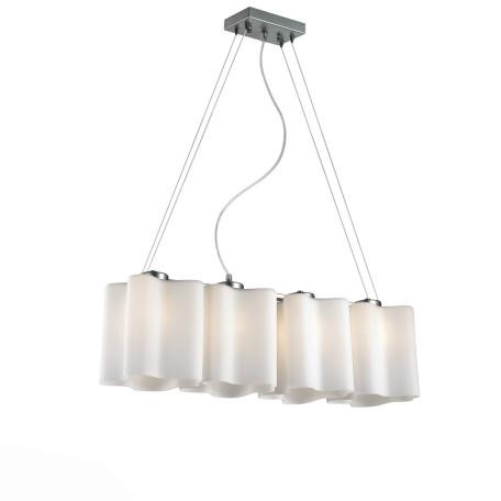 Подвесной светильник ST Luce Onde SL116.503.04, 4xE27x60W, серебро, белый, металл, стекло