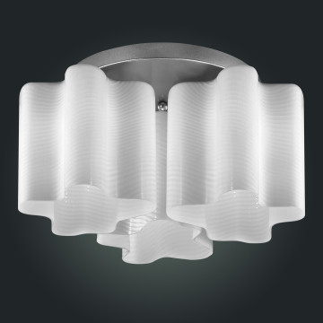 Потолочная люстра ST Luce Onde SL117.502.03, 3xE27x60W, серебро, белый, металл, стекло