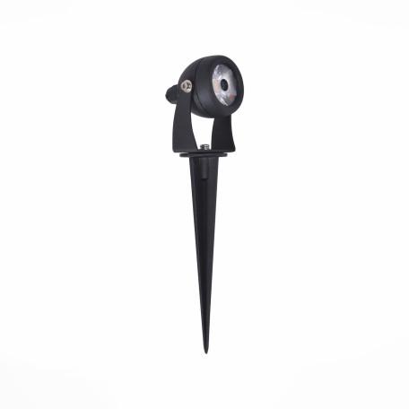 Светодиодный прожектор с колышком ST Luce Pedana SL098.405.01, IP65, LED 8W 4000K, черный, металл