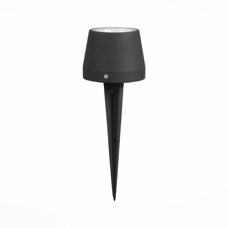 Садово-парковый светодиодный светильник ST Luce Pedana SL097.445.01, IP65 3000K (теплый), прозрачный, черный, металл, стекло