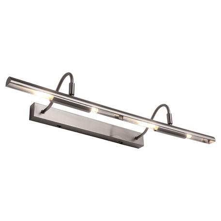 Настенный светильник для подсветки картин Lussole Loft Lido III LSP-9963, IP21, 4xG9x40W, никель, металл