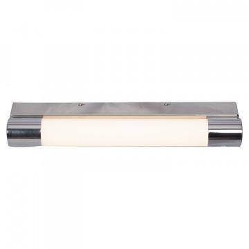 Настенный светодиодный светильник Lussole Aqua LSP-9966, IP44, LED 8W 4100K, хром, белый, металл, пластик