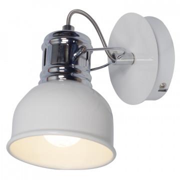 Настенный светильник Lussole LGO Carrizo LSP-9955, IP21, 1xE14x40W, белый, хром, металл