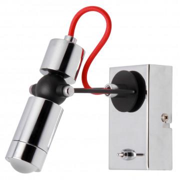Настенный светодиодный светильник с регулировкой направления света Lussole Rome LSP-9923, IP21, LED 5W 4100K, хром, металл