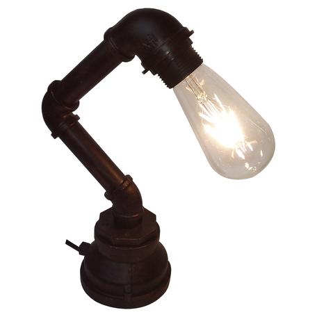 Настольная лампа Lussole Loft Thornton LSP-9985, IP21, 1xE27x60W, коричневый, металл