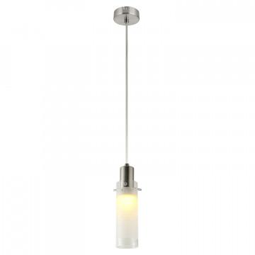 Подвесной светильник Lussole LGO Leinell LSP-9982, IP21, 1xE14x40W, никель, белый, металл, стекло