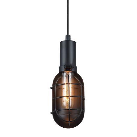 Подвесной светильник Lussole Loft Kingston LSP-9816, IP21, 1xE27x60W, черный, металл - миниатюра 1