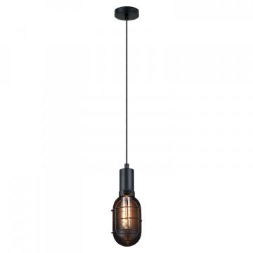 Подвесной светильник Lussole Loft Kingston LSP-9816, IP21, 1xE27x60W, черный, металл - миниатюра 2