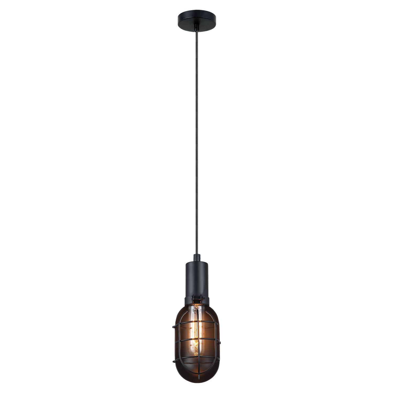 Подвесной светильник Lussole Loft Kingston LSP-9816, IP21, 1xE27x60W, черный, металл - фото 2