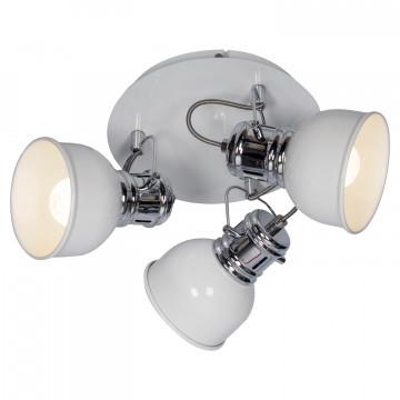 Потолочная люстра с регулировкой направления света Lussole LGO Carrizo LSP-9956, IP21, 3xE14x40W, белый, хром, металл