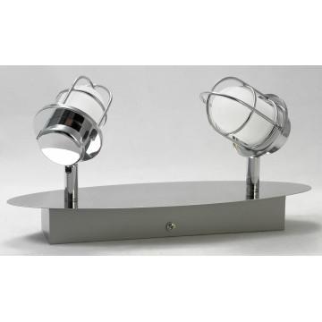 Потолочный светодиодный светильник с регулировкой направления света Lussole White Plains LSP-9927, IP21, LED 10W 4100K, хром, белый, металл, металл с пластиком - миниатюра 2