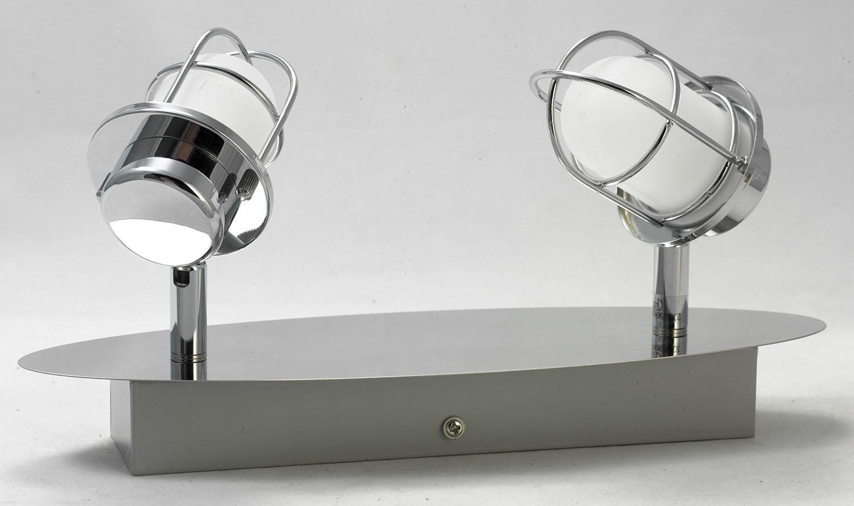 Потолочный светодиодный светильник с регулировкой направления света Lussole White Plains LSP-9927, IP21, LED 10W 4100K, хром, белый, металл, металл с пластиком - фото 2