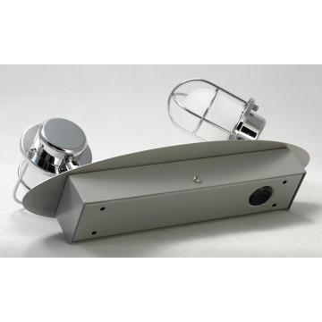 Потолочный светодиодный светильник с регулировкой направления света Lussole White Plains LSP-9927, IP21, LED 10W 4100K, хром, белый, металл, металл с пластиком - миниатюра 3