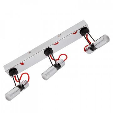 Потолочный светодиодный светильник с регулировкой направления света Lussole Rome LSP-9924, IP21, LED 15W 4100K, хром, металл